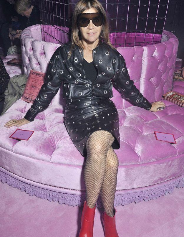Carine Roitfeld au défilé Gucci