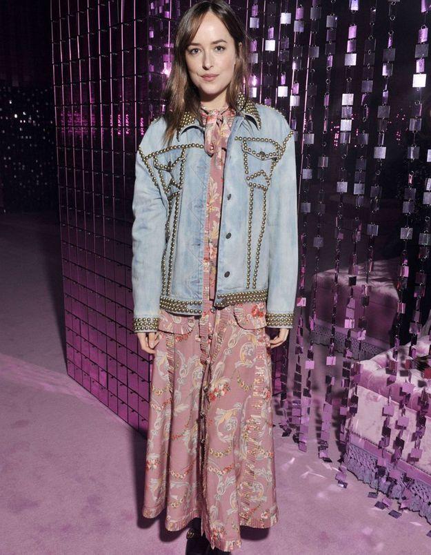 Dakota Johnson au défilé Gucci