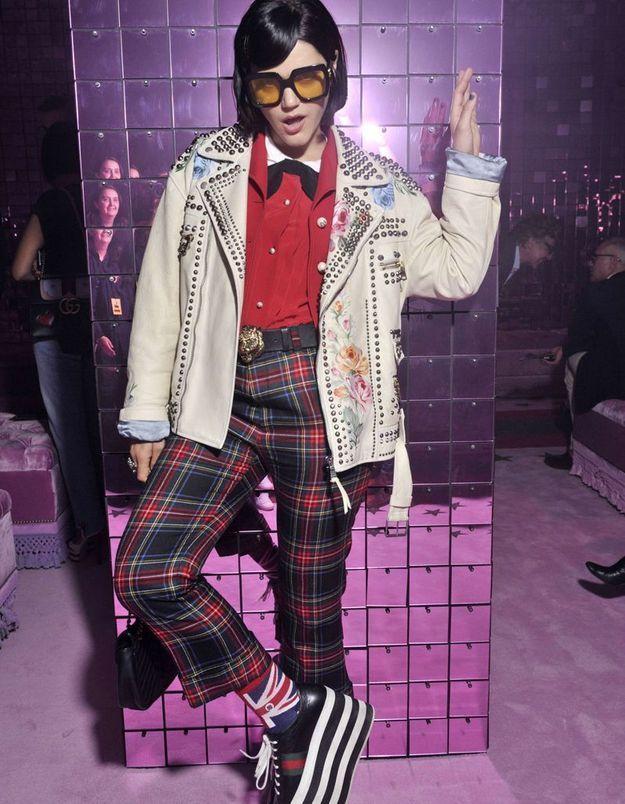 Soko au défilé Gucci