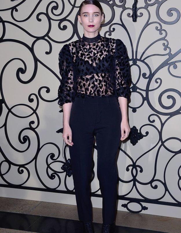 Rooney Mara au défilé Givenchy
