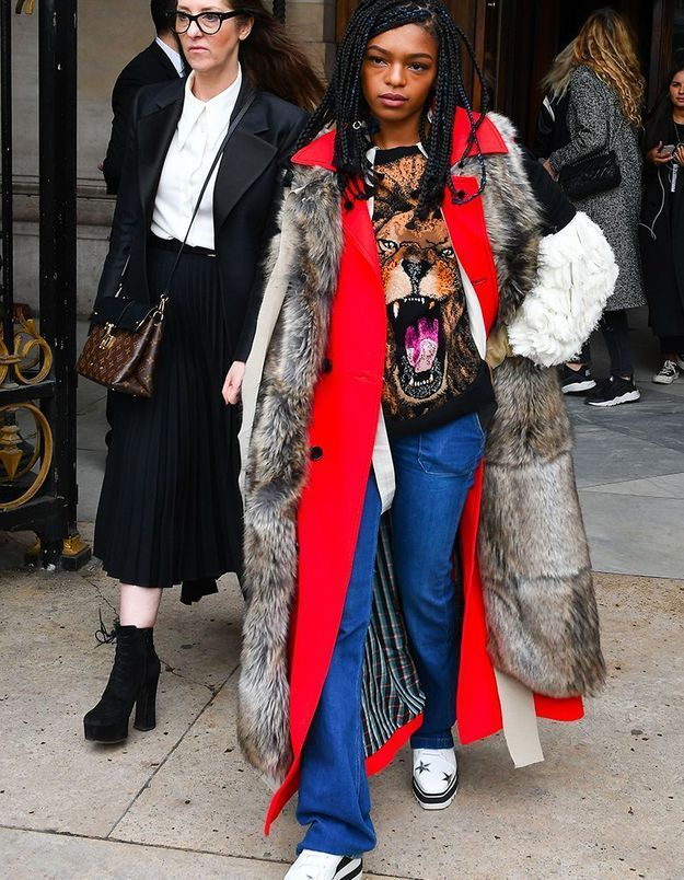 Selah Marley au défilé Stella McCartney