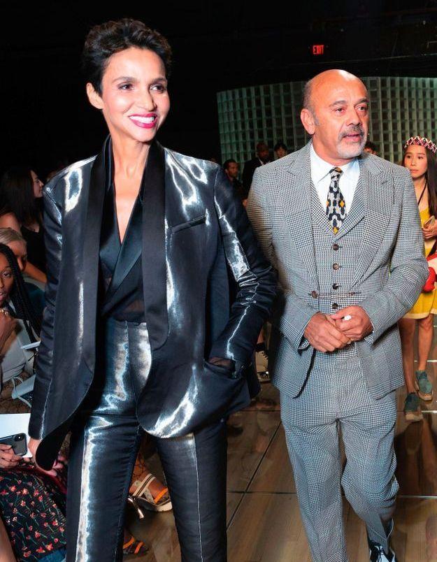 Christian Louboutin et Farida Khelfa au défilé Marc Jacobs