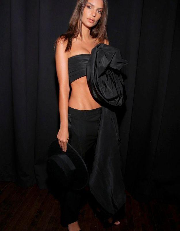 Emily Ratajkowski au défilé Marc Jacobs