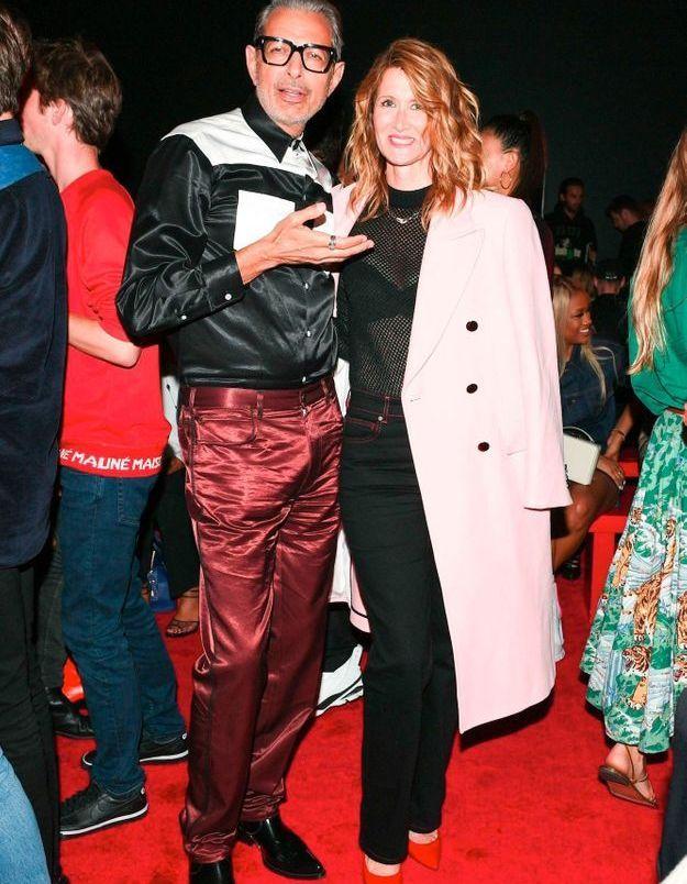 Jeff Goldblum et Laura Dern au défilé Calvin Klein