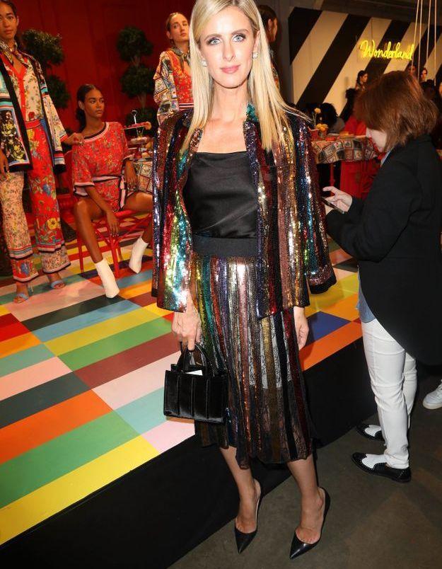 Nicky Hilton Rothschild à la présentation Alice Olivia par Stacey Bendet