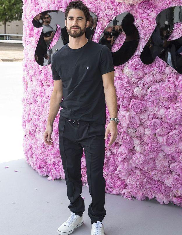 Darren Criss au défilé Dior Homme