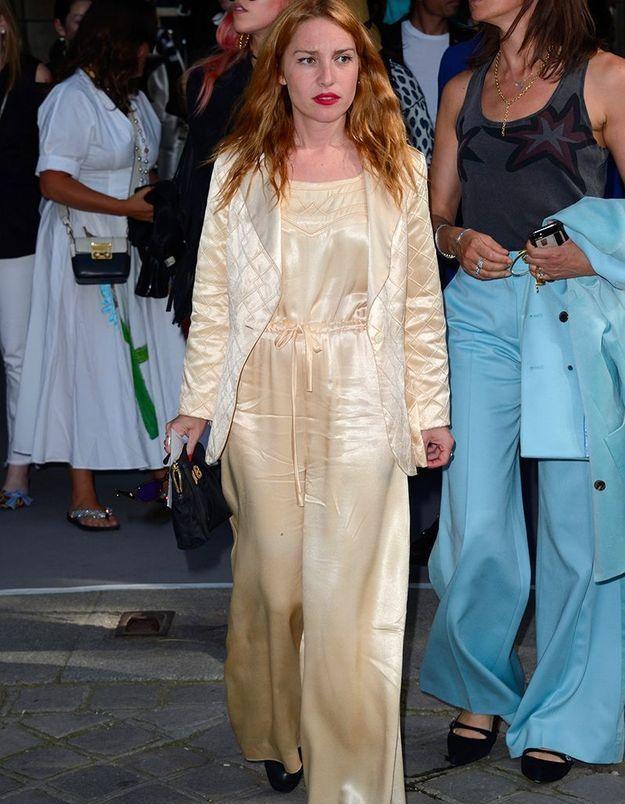 Joséphine de la Baume au défilé Dior Homme