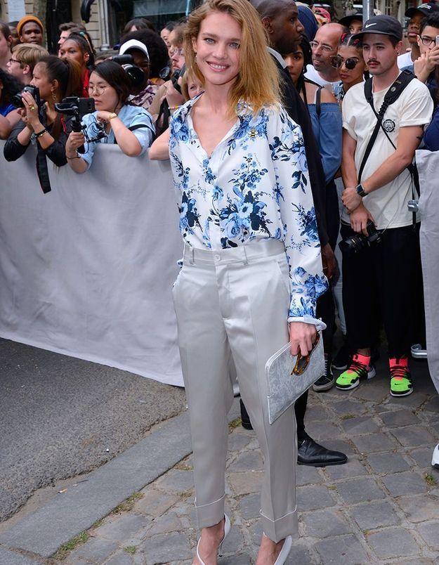 Natalia Vodianova au défilé Dior Homme