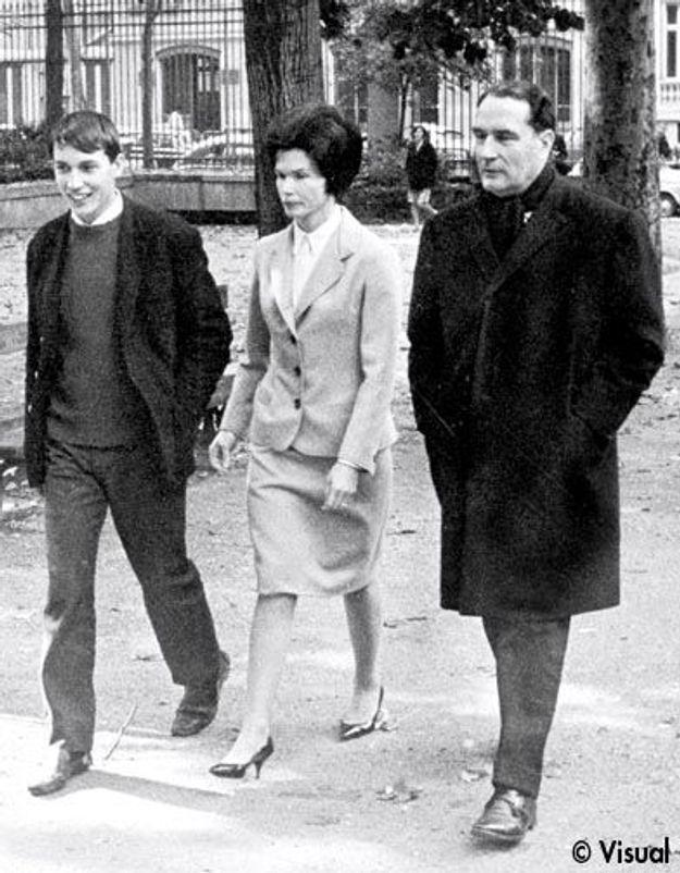 Danielle Mitterrand, avec François Mitterrand et un de leur fils