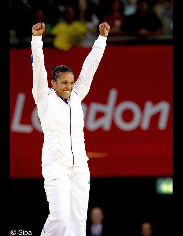 Lucie Décosse pour sa médaille d'or en judo aux JO de Londres