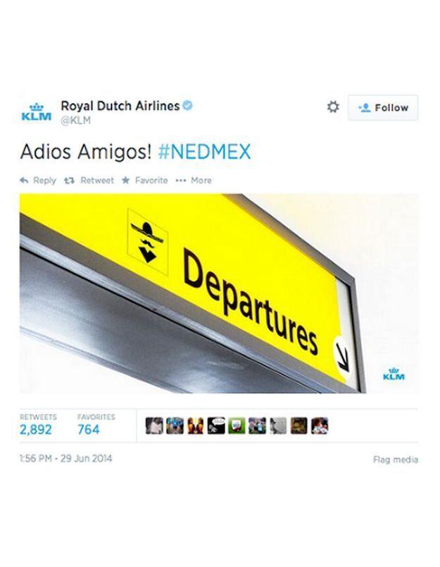 Le tweet de la compagnie KLM