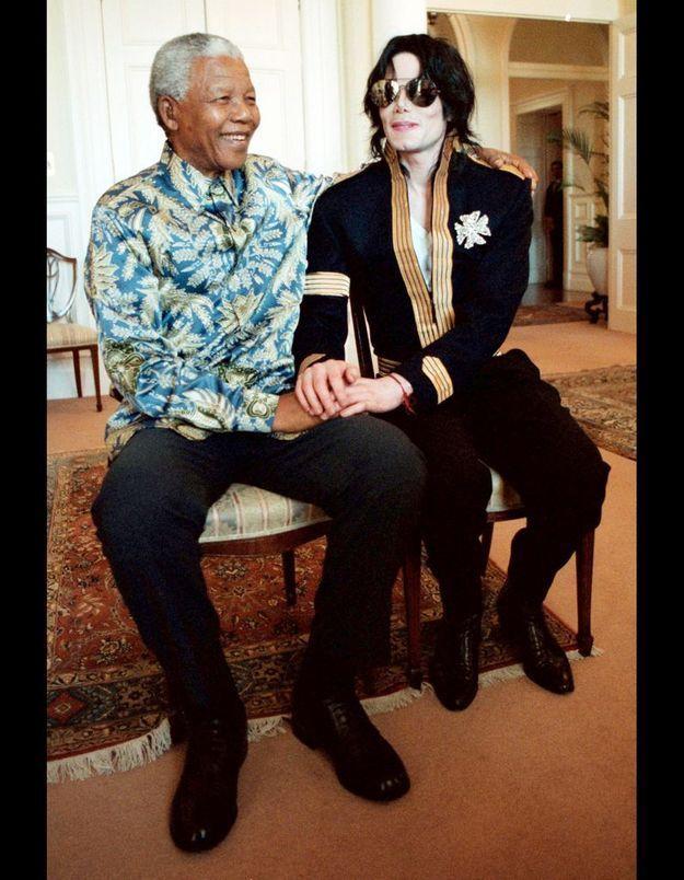 Michael Jackson et Nelson Mandela le 25 mars 1999