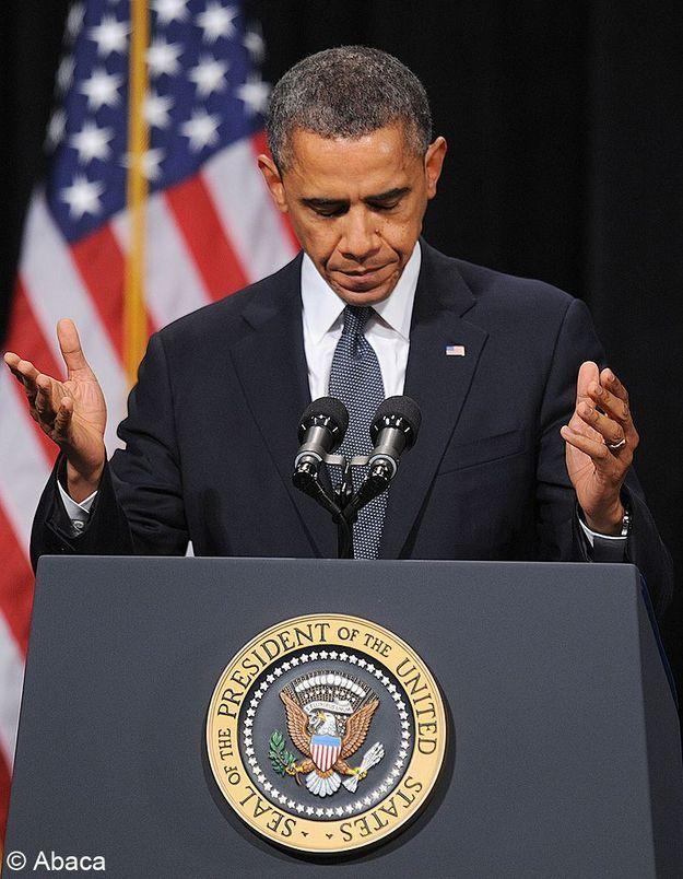 Barack Obama avec les proches des victimes