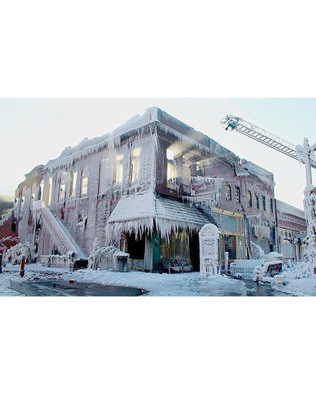Une maison glacée