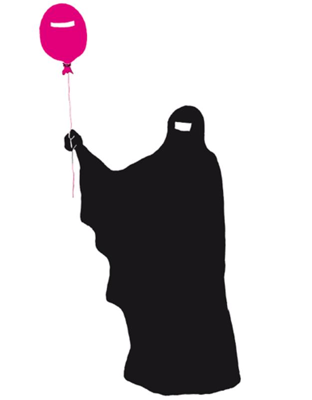La burqa vue par une illustratrice allemande