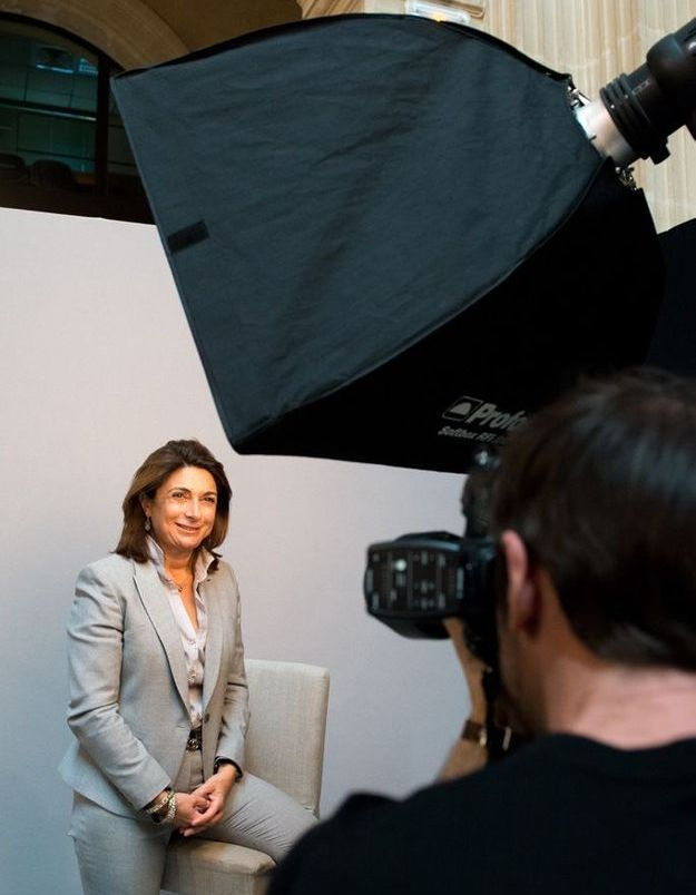 Martine Vassal en plein shooting