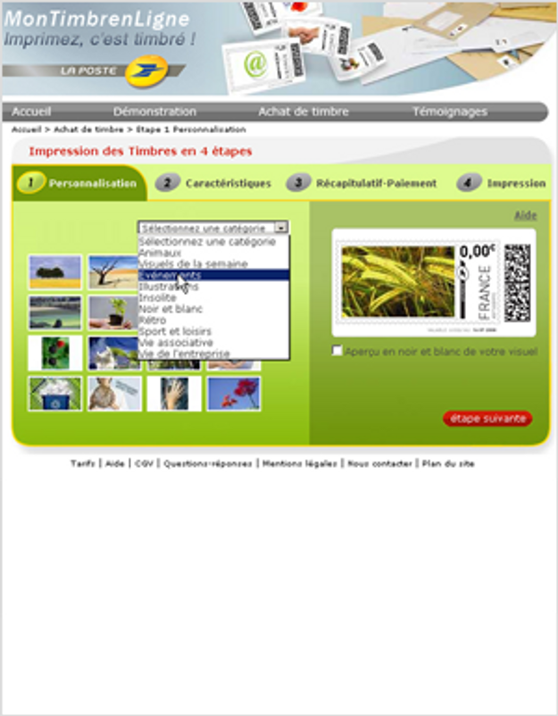 Acheter ses timbres en ligne elle for Acheter arbustes en ligne