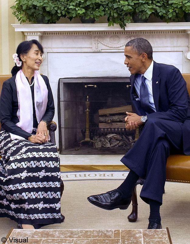 Barack Obama en Birmanie pour rencontrer Aung San Suu Kyi
