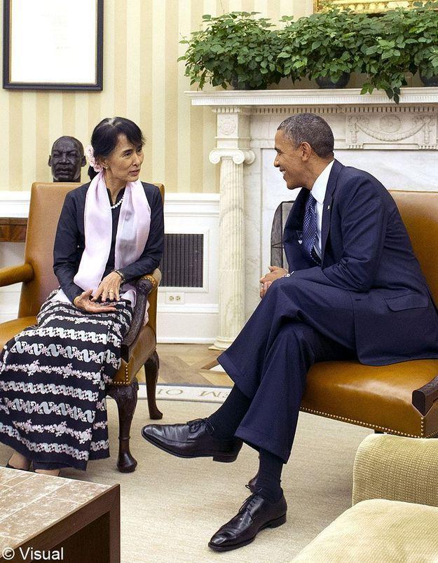 Barack Obama reçoit Aung San Suu Kyi à la Maison Blanche