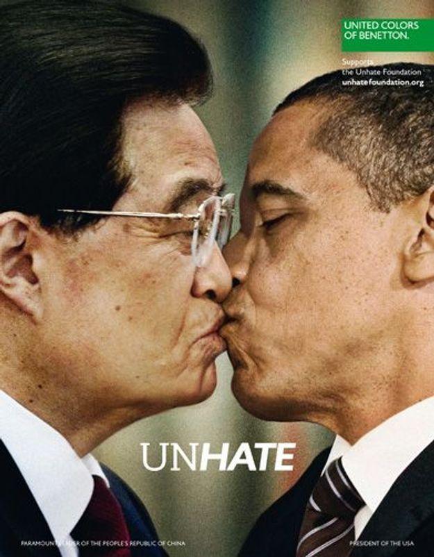 Benetton prône l'amour, mais s'attire les foudres du Vatican