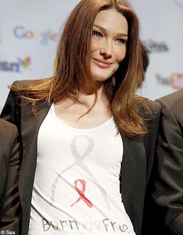 Carla Bruni lance la campagne « Naître sans le VIH »