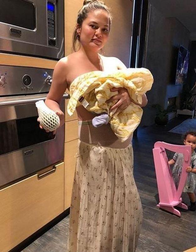 Chrissy Teigen : la photo qui fait du bien aux jeunes mères
