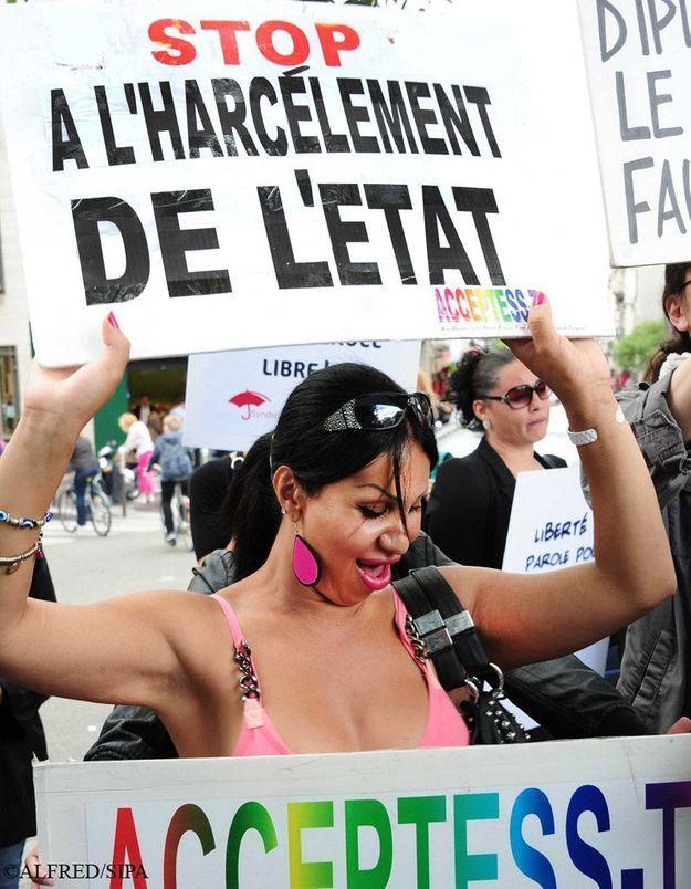 Contre l'abolition, des prostitué(e)s manifestent