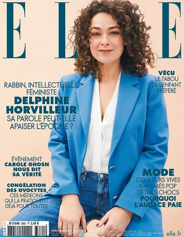 Delphine Horvilleur en couverture de ELLE cette semaine