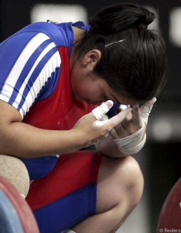 Elle accouche au cours d'un entraînement haltérophile