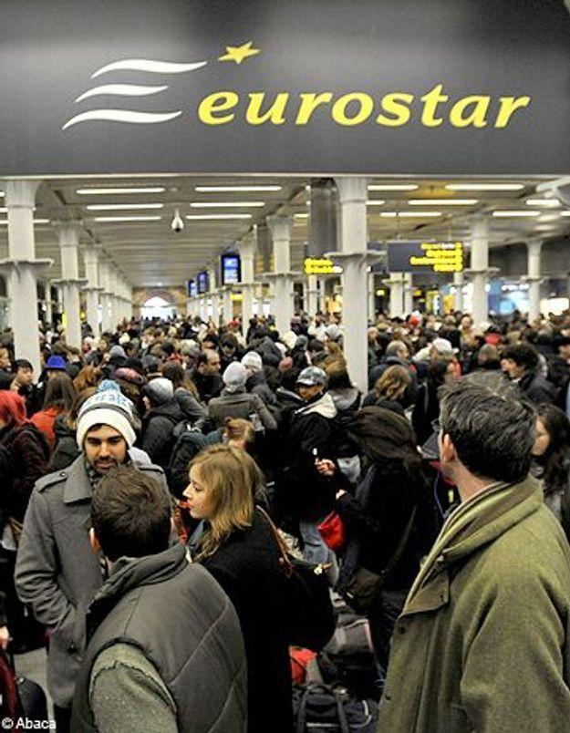 Eurostar : 20 000 voyageurs en galère  sauf Claudia Schiffer