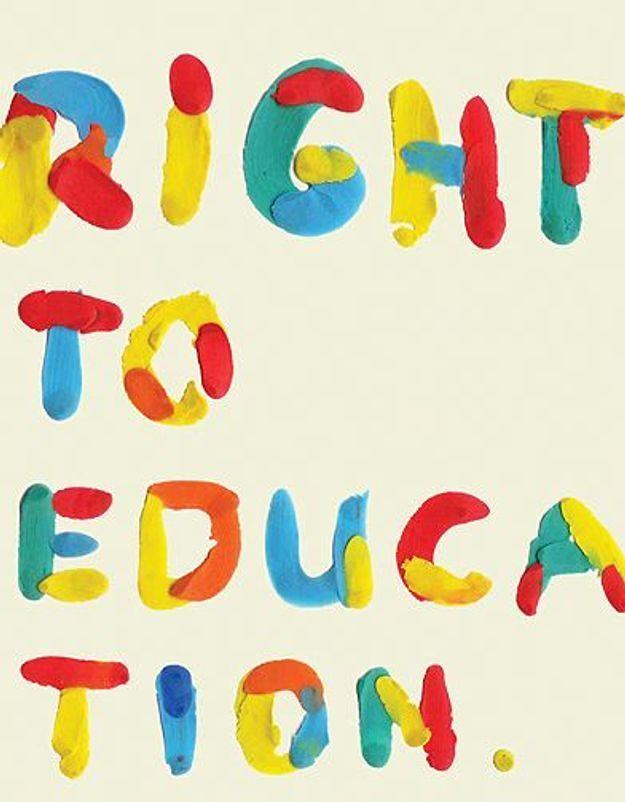Exposition : 100 affiches pour le droit à l'éducation