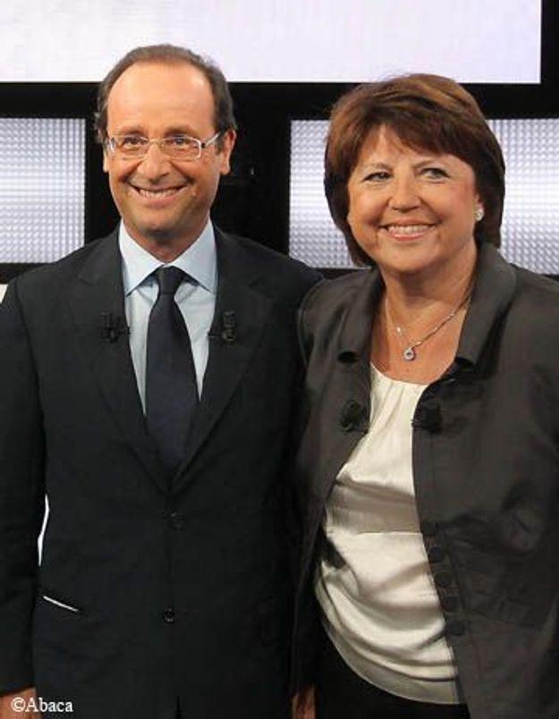 François Hollande remporte la primaire face à Martine Aubry