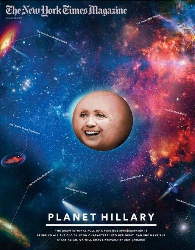 Hillary Clinton : l'étonnante couverture du New York Times Magazine
