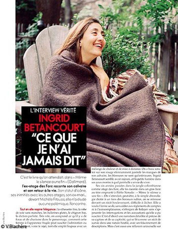 Ingrid Betancourt se confie dans ELLE : extraits inédits