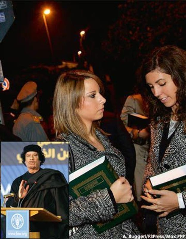Italie : Kadhafi veut des jolies filles