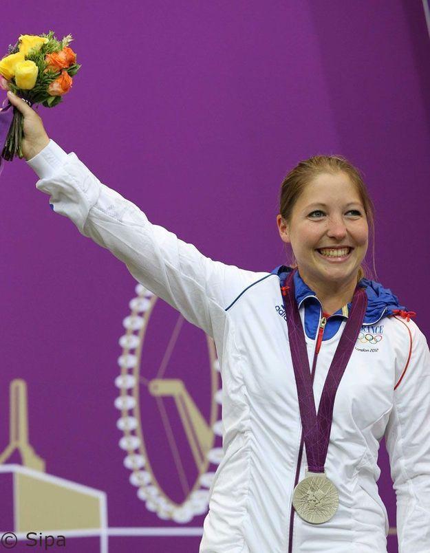 JO:1ère médaille française pour la tireuse Céline Goberville