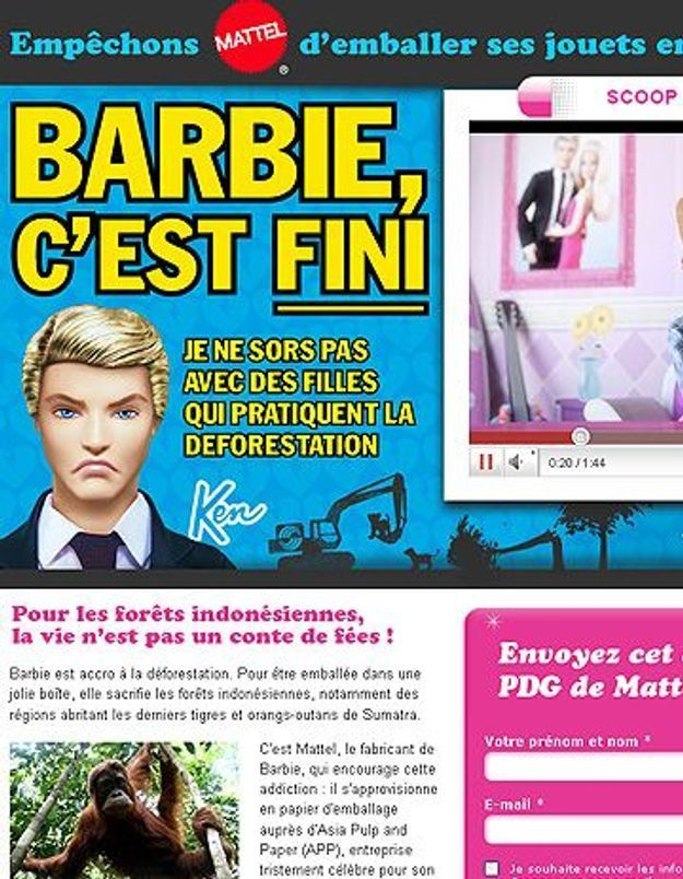 Ken largue Barbie, elle l'a trahi !