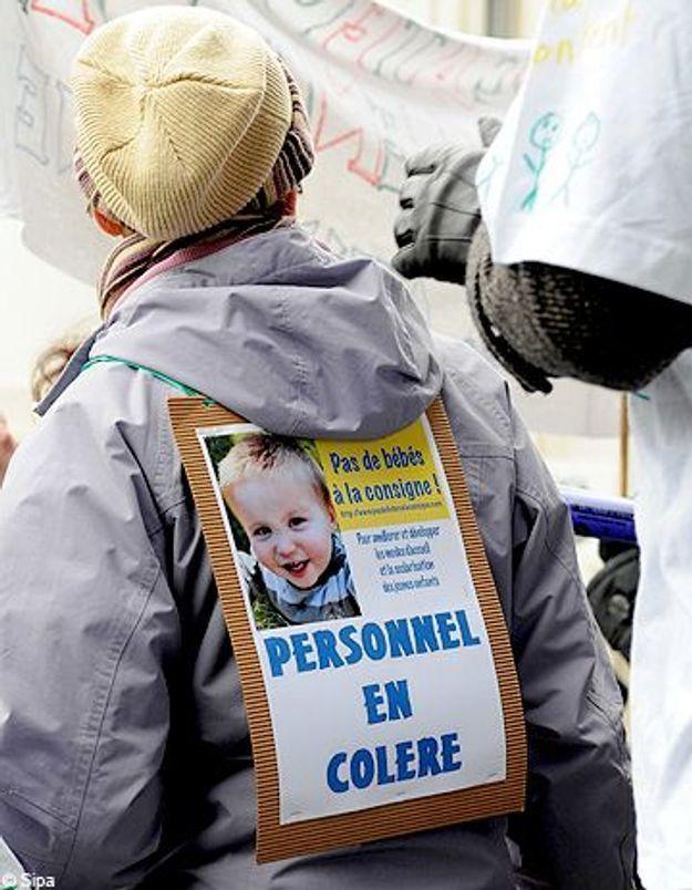 Les crèches en grève contre les bébés entassés