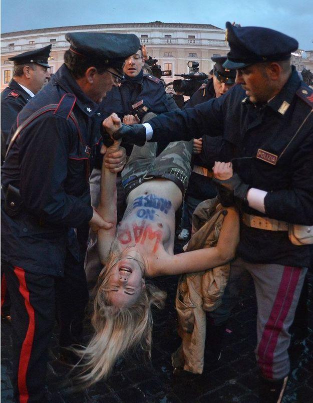 Les Femen manifestent au Vatican