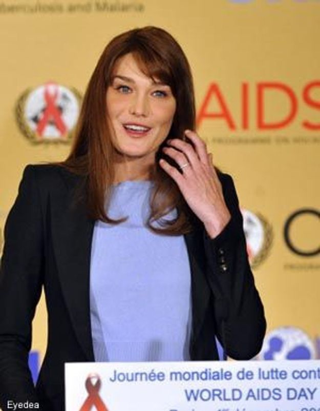Lutte contre le sida : Carla Bruni au Burkina Faso