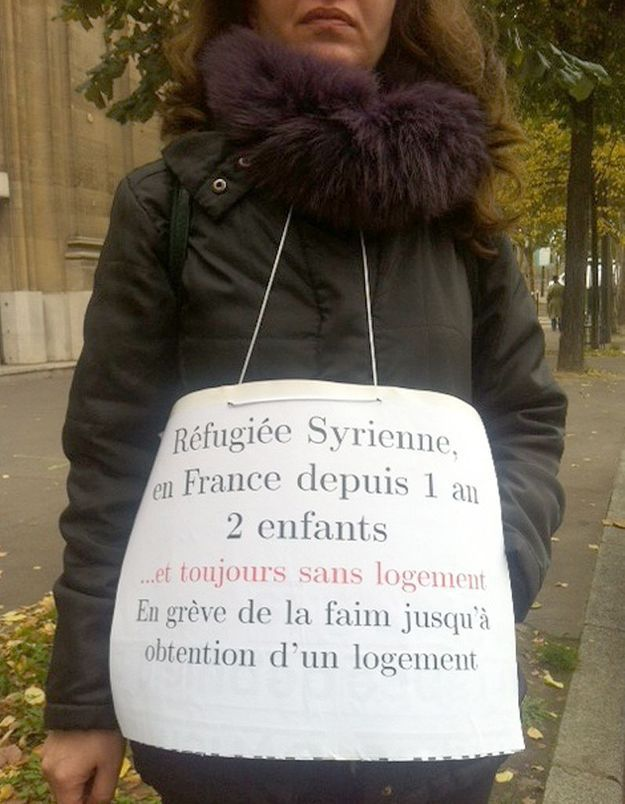 Manal, une mère de famille syrienne en grève de la faim à Paris