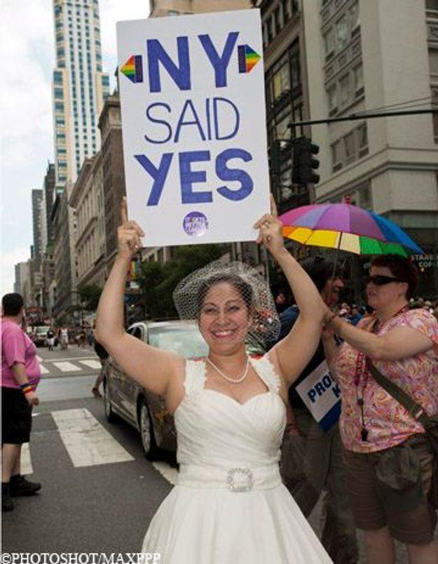 New-York a célébré ses premiers mariages gays