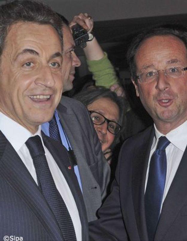 Nicolas Sarkozy en tête au 1e tour, Hollande vainqueur au 2nd