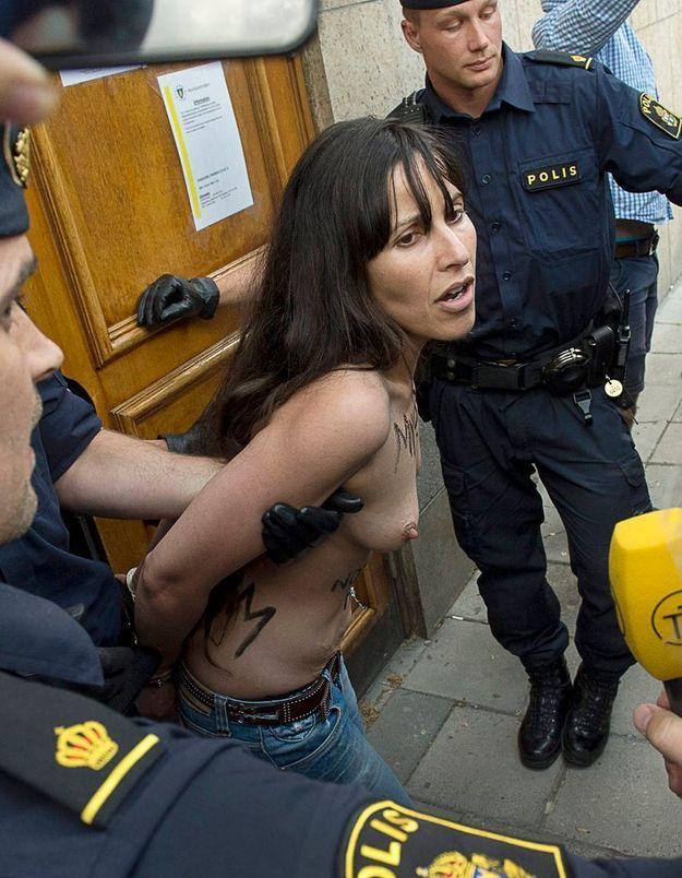 Nouvelle action des Femen à Stockholm
