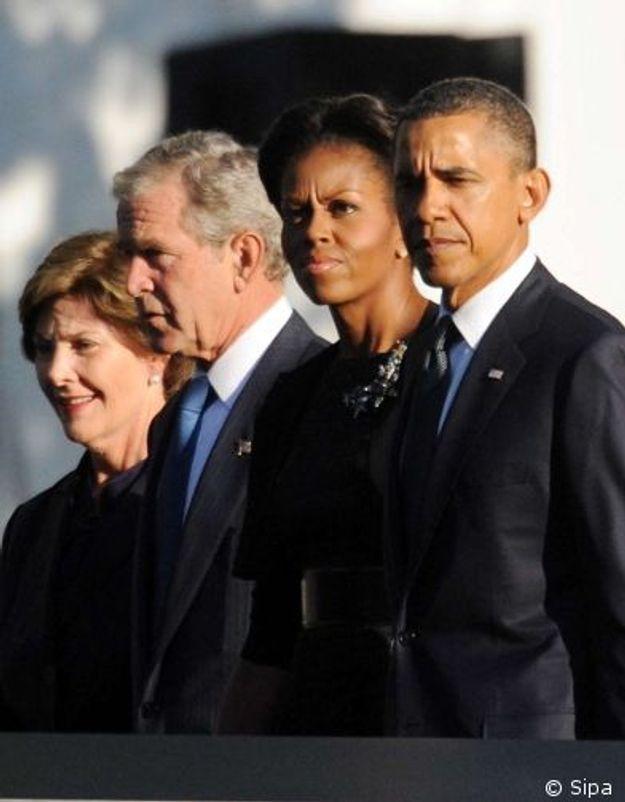 Obama et Bush rendent hommage aux victimes du 11-septembre
