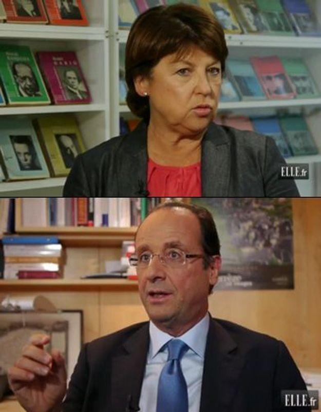 Primaire : M. Aubry ou F. Hollande répondent à ELLE
