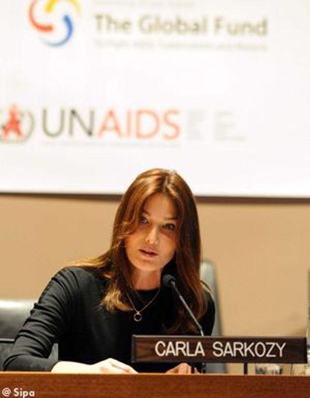 Sida : Carla Bruni défie les leaders mondiaux