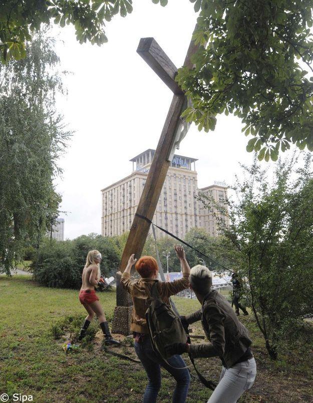 Une activiste de la «Femen» recherchée pour «hooliganisme»