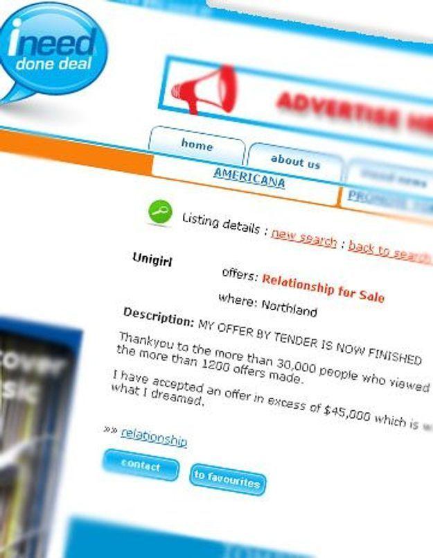 Une Néo-zélandaise vend sa virginité sur le net pour payer ses études