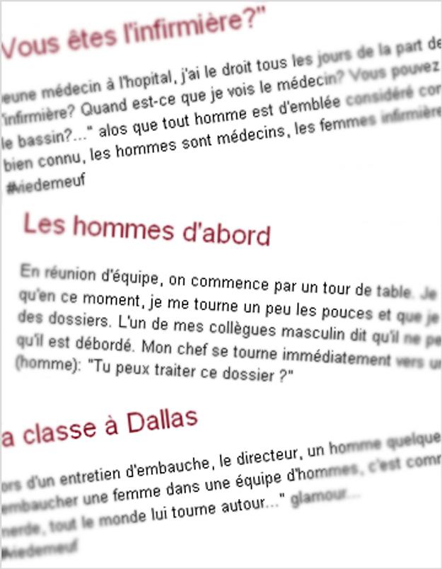 Viedemeuf.fr pour raconter le sexisme ordinaire